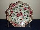 Yongzheng period famille rose petalled plate