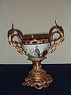 CA 1750 FRENCH GILT ORMOLU MOUNTED FAMILLE ROSE CUP