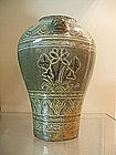 IMPORTANT EARLY CHOSON APPLIQUE INLAID PUNCHONG VASE