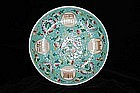 IMPERIAL GUANGXU MARK AND PERIOD FAMILLE ROSE PLATE
