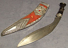 Antique Presentation  Sword Kukri 2/7th Gurkha Rifles