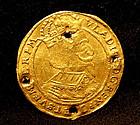 Antique Polish Gold Ducat Coin Poland Torun 17th centur