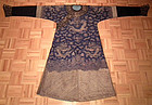 Antique Chinese Embroidered Dragon Robe Qing Dynasty