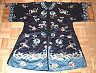 Antique Chinese Embroidered  Silk Rob Qing Dynasty