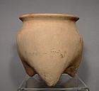 Antique Chinese Neolithic Langshan Ceramic Tripod