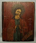 Antique 18th century Ukrainian Lemko Icon of Virgin