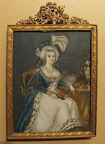 Antique 18th century Miniature Portrait on Ivory