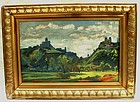 Czech Landscape Painting by Kasriel dated 1931