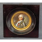 Antique Miniature Painting Portrait Army Commander