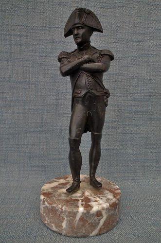 Antique Napoleon Bonaparte Bronze Sculpture 19th cen