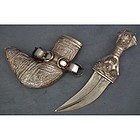 Antique Arab Dagger Silver mounted Islamic Jambiya