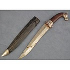 Antique Indo Persian Mughal Silver Dagger Khanjar