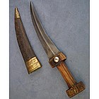 Antique Turkish Ottoman Islamic Dagger Khanjar Wootz