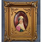 Antique Limoge Porcelain Plaque Miniature Portrait