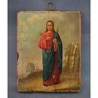 Antique Russian Orthodox Icon of St. Christina
