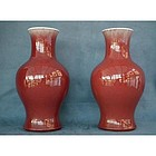 Antique Chinese Qing Dynasty �Sang de Boeuf� Vases