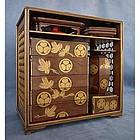 Antique Japanese lacquer Edo Period Sage Jubako Picnic