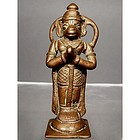 18th Century Antique Indian Bronze Hindu God Hanuman