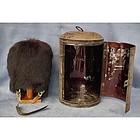 Antique British Grenadier Guards Bearskin Hat & Carryin