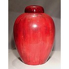 Large Antique William Moorcroft Flambé Ginger Jar Vase