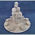 Jewish Hanukkah Menorah sculpture Bailey Stern Leslie