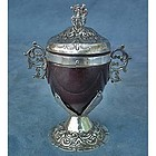 Antique 18th c European Silver-mounted Coconut Cup