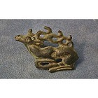 Ancient Scythians Bronze Fibula Deer Brooch 6th-4th cen