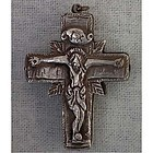 Antique Post Byzantine Silver Orthodox Cross 16th c