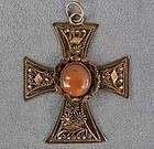 Antique Polish silver Cross Krzyz Kawalerski Poland
