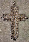 Antique Silver Cross made of 58 Travancore silver Coins