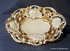 Antique Meissen Gilded Platter Plate 19th c