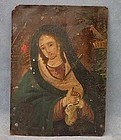 Antique Spanish Colonial Retablos Mater Dolorosa