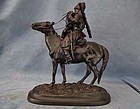 Russian Kasli Iron Sculpture Cossack The Farewell Kiss