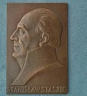 Antique 1926 bronze plaque Polish S Staszic by Aumiller