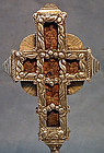 Antique Ukrainian Orthodox Greek Silver Cross 17th c