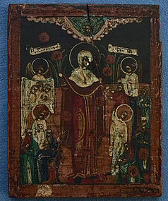 Antique Russian Orthodox icon Mother of God 18th c