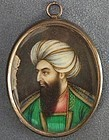 Antique Islamic miniature portrait King of Afghanistan