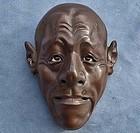 Antique Edo period Japanese Noh or Gigaku Mask 19th c