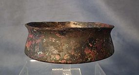 Ancient Greek Bronze Bowl with Traces of Gold Gilding 5