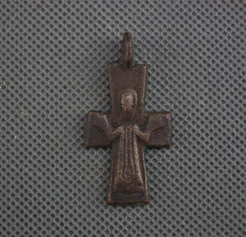 Authentic Antique Byzantine Bronze Cross circa 9th-12th