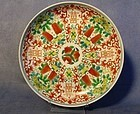 Antique Chinese Hand Painted Plate Qing Dynasty