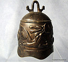 Antique Chinese Bronze Bell Qing Dynasty 18th-19th Cent