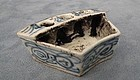 Antique Chinese Blue and White Porcelain Inkwell