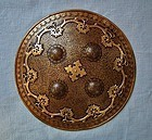 Antique Islamic Indo Persian Gold Shield Dhal Separ 18c