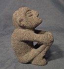 Antique Pre-Columbian Nude Male Shaman Sukia Sculpture