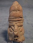 Antique Pre-Columbian Mayan Terracotta Head 200 AD