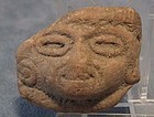 Antique Terracotta Head fragment Pre-Columbian Mayan 50
