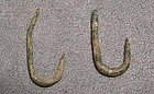 Antique Pre-Columbian fishing hooks Moche 100-400 BC
