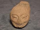 Antique Pre-Columbian Chupicuaro Terracotta Head Late P