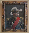 Antique Painting Portrait French Marshal Joseph Jacques